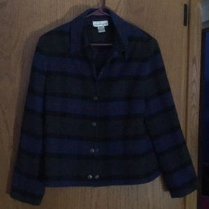 Evan-Picone Plaid Wool Blend Jacket